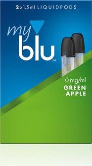 myblu Podpack 1,5ml Green Apple 0mg/ml Nikotin DE 2er Pack