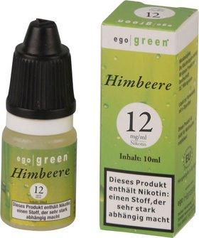 Liquid ego green Himbeere 12 mg Nikotin 10ml