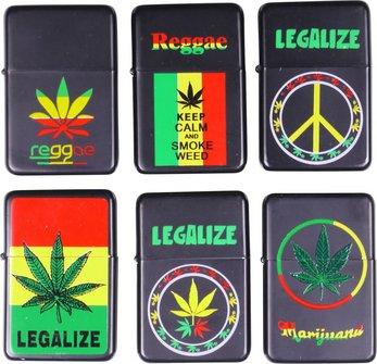 """COOL Benziner schwarz """"Legalize"""" sortierte Dekore"""