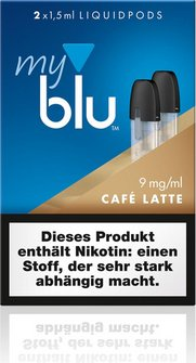 myblu Podpack 1,5ml CafeLatte 9mg/ml Nikotin DE 2er Pack