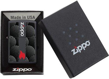 "Org.ZIPPO schwarz color ""Dot Pattern"" 60004369"