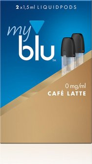 myblu Podpack 1,5ml CafeLatte 0mg/ml Nikotin DE 2er Pack
