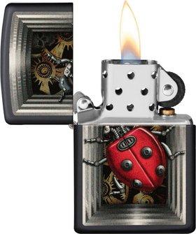 "Org.ZIPPO schwarz color ""Ladybug"" 60004391"