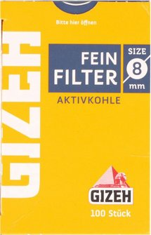 GIZEH Feinfilter Aktivkohle Inhalt 100 Filter