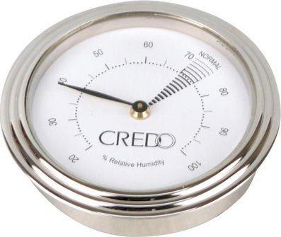 CREDO Hygrometer chrom Durchmesser 55mm, Einbaudurchm. 48mm