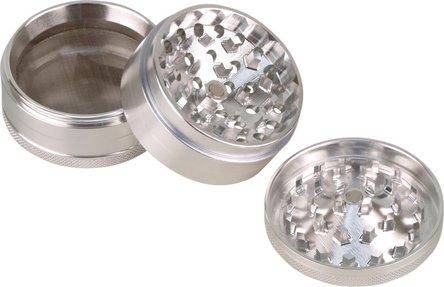 Grinder Aluminium innen konisch, 4tlg, silber, Durchm. 62mm
