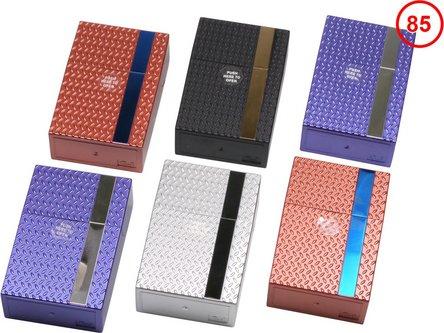 """Cool Zigarettenbox """"Pop up"""" Struktur/Streifen sortiert  85mm"""