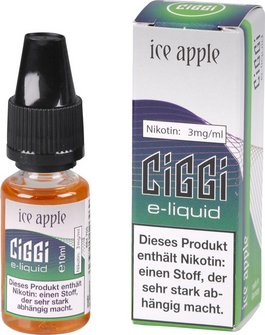 CIGGI Liquid Ice Apple 3mg/ml Nikotin 10 ml