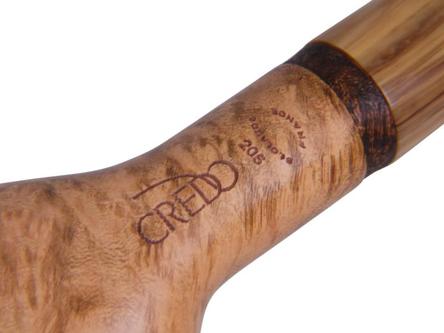 "CREDO Pfeife ""Hardy"" gerade hellbraun poliert/Acrylmundst."