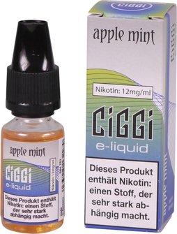 CIGGI Liquid Apple Mint 12mg/ml Nikotin 10 ml