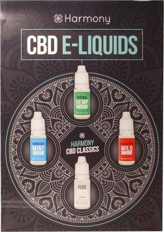 Harmony Poster A2 CBD-Liquid