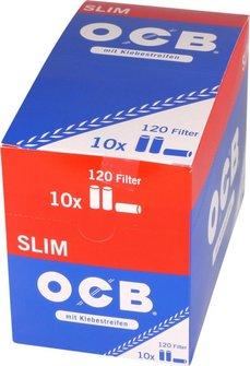 """OCB Drehfilter """"Slim"""" Inhalt 120 Filter mit Gummierung"""