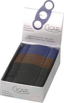 Cigarren-Abschneider Kunststoff sortiert 22mm Schnitt