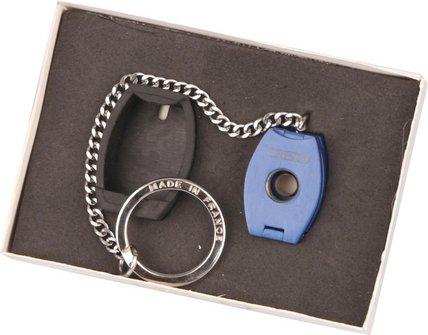 CREDO Cigarren Rundcutter oval 3-in-1 mit Kette blau