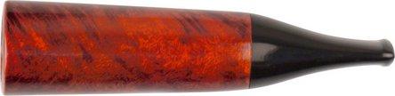 Cigarillospitze Bruyère orange/black Acrylmundstück 13mm