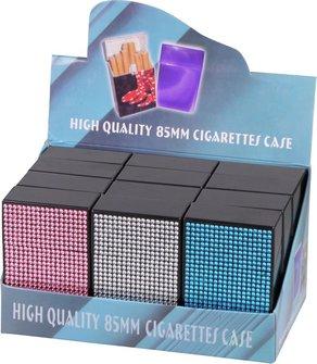 """Cool Zigarettenbox """"Pop up Bling"""" farbig sortiert 85mm"""