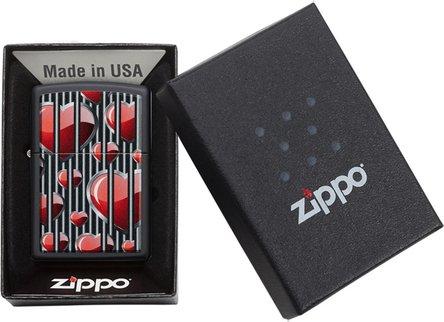 """Org.ZIPPO schwarz color """"Hearts Design"""" 60004396"""