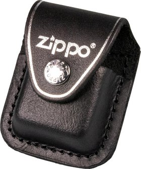 Org.ZIPPO Lederhalf.schw./Clip 60001219