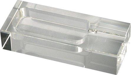 Cigarrenascher Kristallglas/rechteckig 1 Ablage