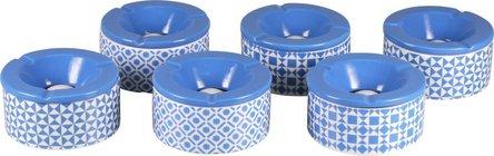 Windascher Keramik weiss/blau gemustert sortiert  12cm