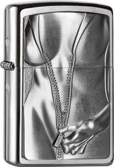 "Org.ZIPPO cr.geb.Plakette ""Zipper Girl"" 2004667"