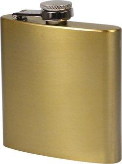 Flachmann Edelstahl bronze metallic matt  6oz/180ml