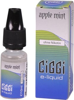 CIGGI Liquid Apple Mint ohne Nikotin 10 ml