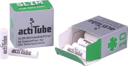 actiTube Slim Aktivkohlefilter 6,9mm Inhalt 10 Filter