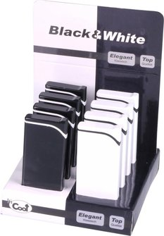 "COOL Feuerzeug ""Black & White"" sortiert  Piezo"