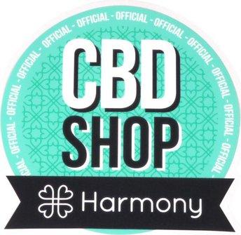"Harmony Hinterglasaufkleber ""CBD-Shop"" ca. 12x13cm"