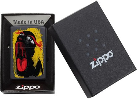 "Org.ZIPPO schwarz color ""Abstract Mouth"" 60004398"