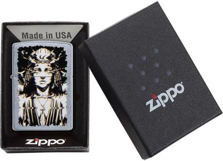 "Org.ZIPPO street chrom color ""Ghost Woman Design"" 60004399"