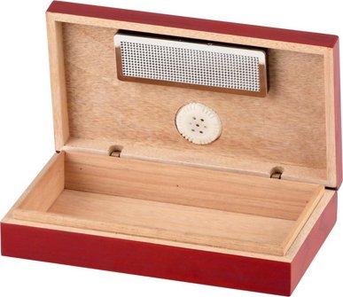 Mini Cigarren-Humidor Pianolack für ca. 4 Cigarren
