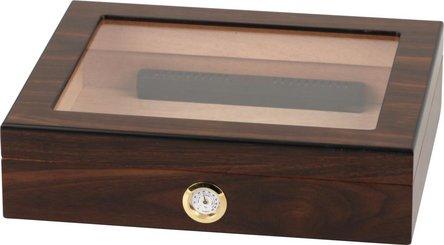 Humidor Walnut Finish Glasdeckel für ca. 20 Cigarren