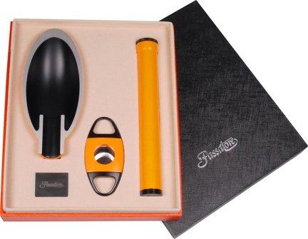 Passatore Set m.Cig.ascher+Abschn.+1er Röhre orange/schwarz