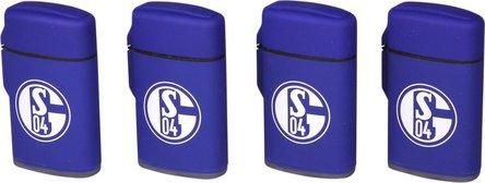 """Jet-Feuerzeug Rubber """"FC Schalke 04"""" blau"""