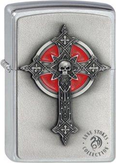 "Org.ZIPPO cr. geb. Plak. ""Anne Stokes Gothic Cross"" 2002005"