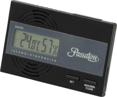 PASSATORE Digital Hygro/Thermometer schwarz mit Fuß