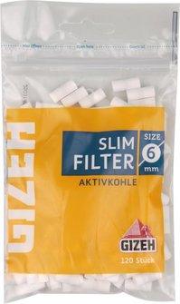 GIZEH Slim Filter Aktivkohle Inhalt 120 Filter