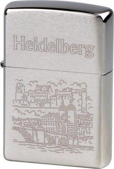 """Org.ZIPPO chrom gebürstet graviert """"Heidelberg"""""""
