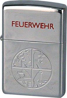 Org.ZIPPO cr.pol. Feuerwehr Logo grav.