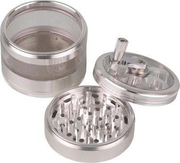 Grinder Metall mit Kurbel 3tlg, Durchm. 75mm, Höhe 100mm