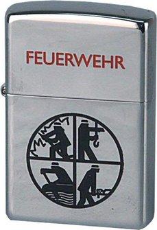 Org.ZIPPO cr.pol. Feuerwehr Logo schwarz