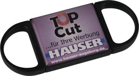 """Cigarren-Abschneider """"TOP CUT"""" KS schwarz mit Sticker ......"""