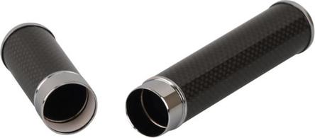 Cigarrenröhre Carbon / chrom poliert   1er