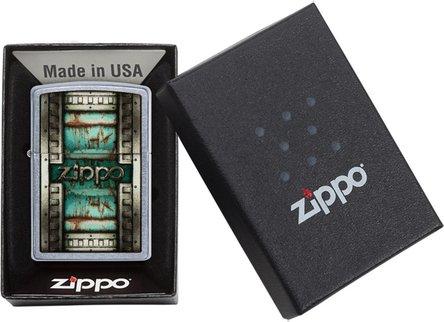 "Org.ZIPPO street chrom color ""Patina Zippo"" 60004422"