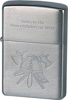 Org.ZIPPO cr.geb. Feuerwehr Helm/Spruch
