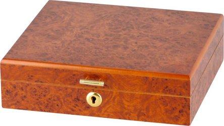 Humidor Wurzelholzdekor abschließbar für ca. 10 Cigarren