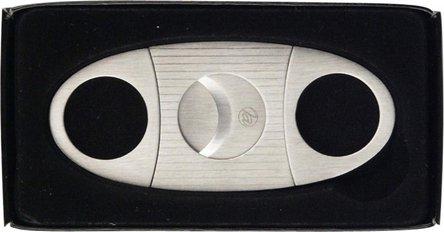 Cigarren-Abschneider chrom satin/Streifen 22mmSchnitt