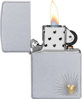 "Org.ZIPPO satin finish TT ""Heart Design"" 60004437"